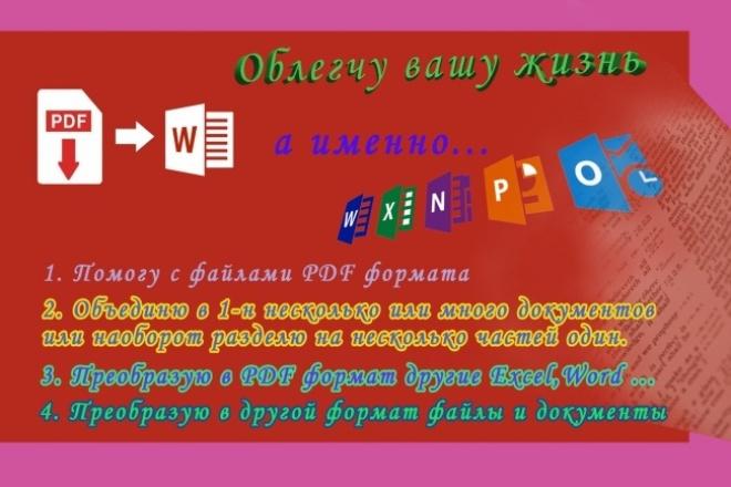 Отредактирую или преобразую 5 страниц в PDF 1 - kwork.ru