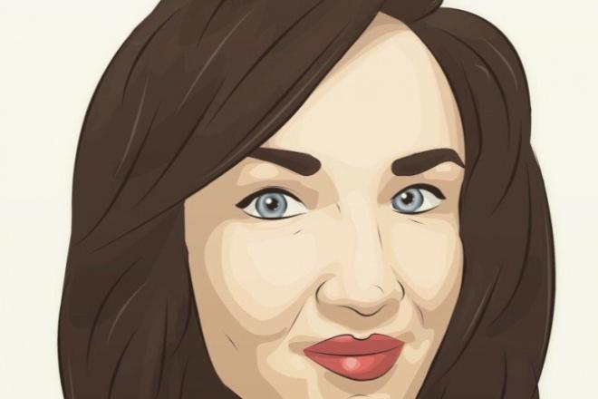 Стильный портрет 1 - kwork.ru