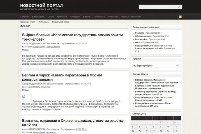 Автонаполняемый новостной сайт 16 - kwork.ru