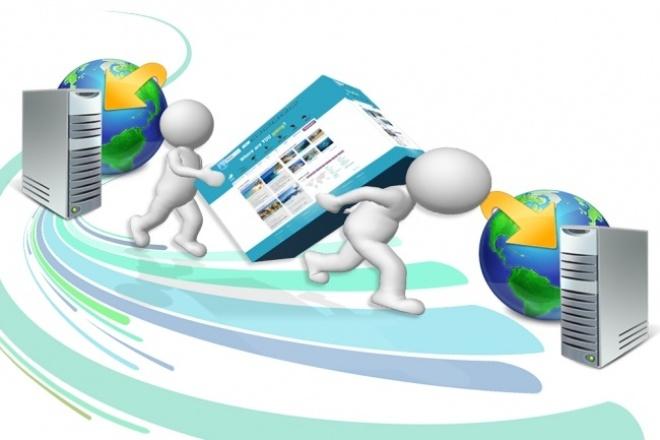 Перенос сайта с хостинга на хостингДоработка сайтов<br>Перенесу Ваш сайт или интернет-магазин практически на любом движке - с хостинга на хостинг. В том числе с локального сервера на боевой хостинг.<br>