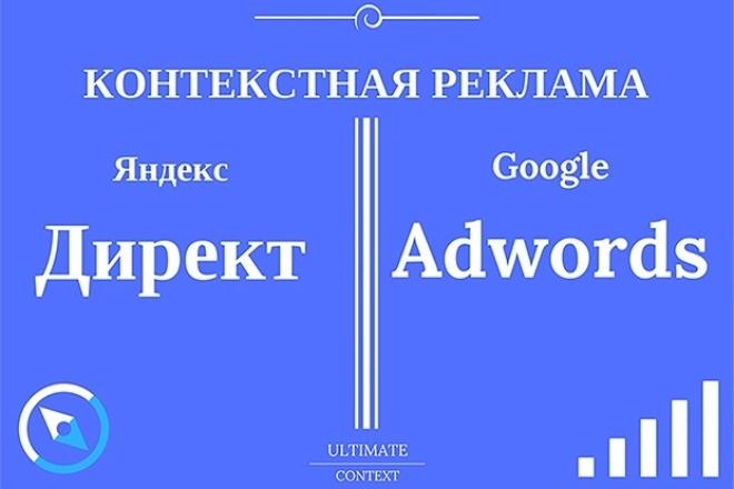 Контекстная реклама в Яндекс Директ и Google Adwords 1 - kwork.ru