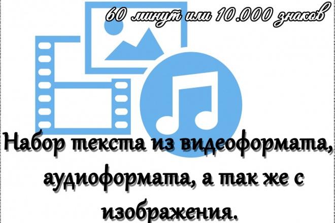 Набор текста с аудио и видео, сканированных страниц 1 - kwork.ru