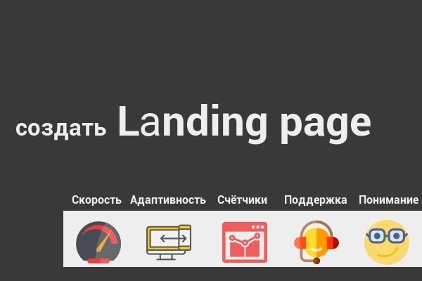 Создание Lаnding pageСайт под ключ<br>Опыт работы в web более 1, 5 лет. Создание уникальных иконок, логотипов. Оптимизации скорости загрузки сайта. Адаптивность - сайт будет подстраиваться под разрешение экрана пользователя. Подключение метрик и (пикселей (Instagram, ВК)) + Бесплатная консультация по трафику, в том числе бесплатные источники.<br>