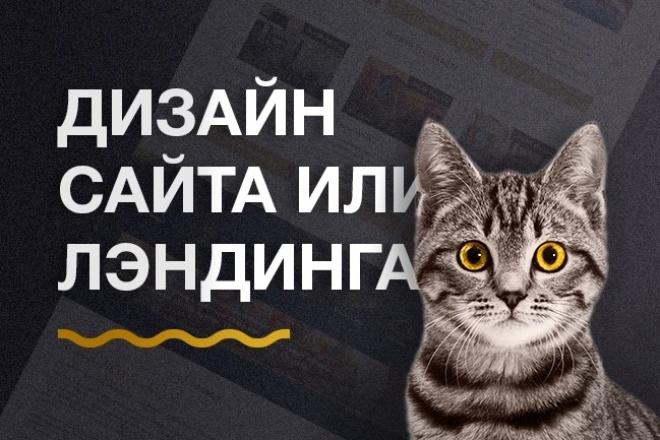 Дизайн страниц для сайта или лэндинга 1 - kwork.ru