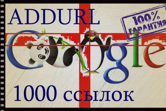 Ускорю X20 индексацию в Google - Addurl 1000 ссылок, результативно 1 - kwork.ru