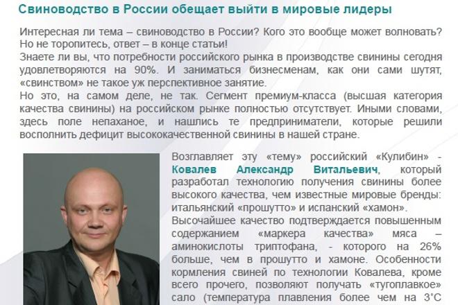 напишу уникальную бизнес-статью оригинально 1 - kwork.ru