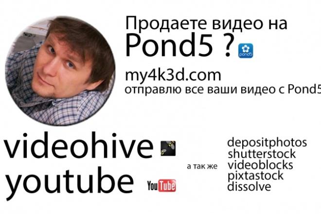 Отправлю на сабмитт 1000 видео на videohive shutterstock Pond5 Videoblogs Disolv 1 - kwork.ru