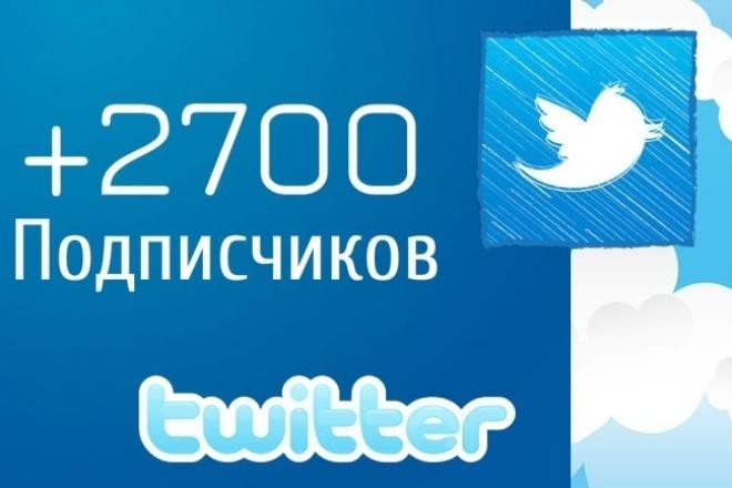+2700 подписчиков, фолловеров в Twitter Твиттер 1 - kwork.ru