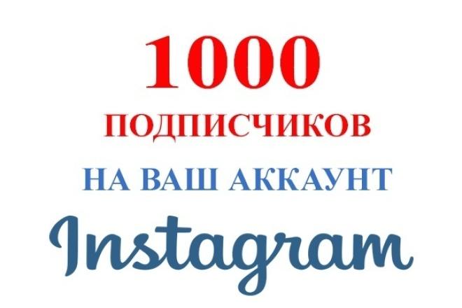 1000 подписчиков Инстаграм 1 - kwork.ru