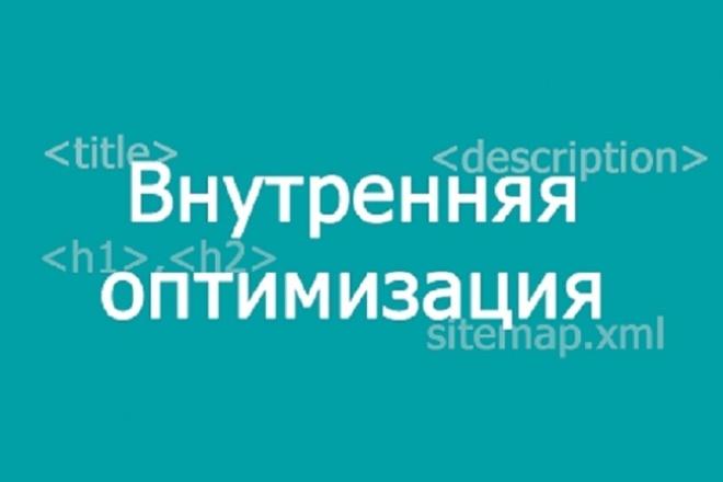Проведу внутреннюю оптимизацию сайта 1 - kwork.ru