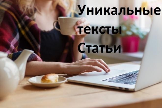 Напишу уникальный текст, статью объемом 3000 знаков 1 - kwork.ru