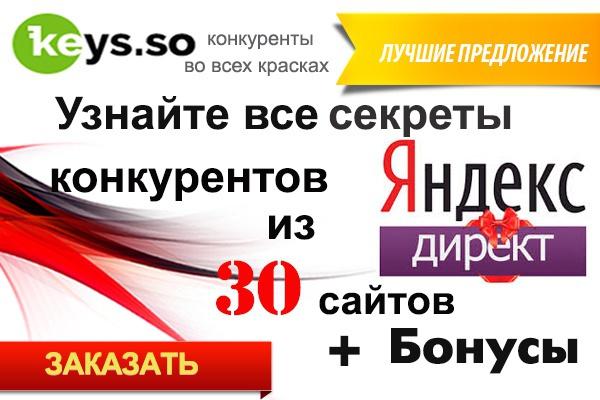 Предоставлю запросы рекламной компании конкурентов в Яндекс Директ 1 - kwork.ru