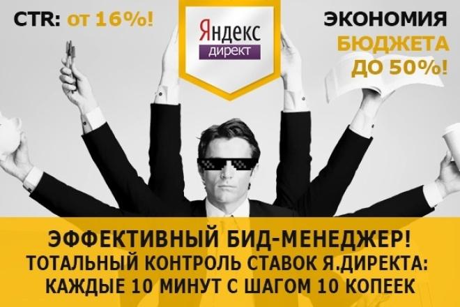 Увеличу эффективность Яндекс.Директ, Система управления ставками 1 - kwork.ru