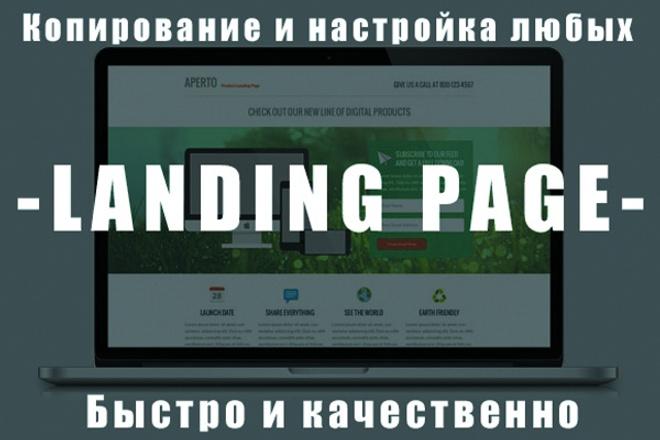 сделаю копию и настрою Landing page(одностраничника) 1 - kwork.ru