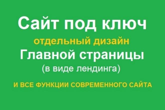 Сайт под ключ. У Главной страницы отдельный дизайн в виде лендинга 1 - kwork.ru