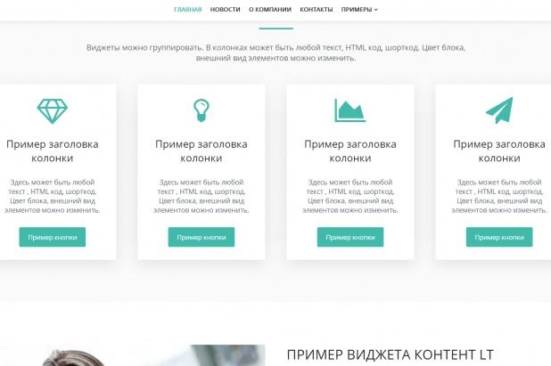 Русскоязычный шаблон на WP для быстрого создания сайтов-визиток 1 - kwork.ru