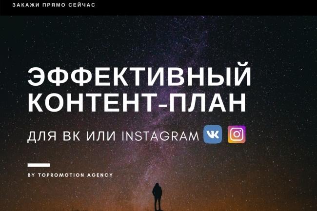 Напишу эффективный контент-план для ВК или Instagram 1 - kwork.ru