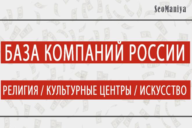 База компаний России - Религия - Культурные центры - Искусство 1 - kwork.ru