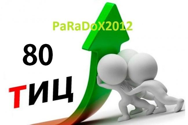 Найду для Вас 1 освобождающийся домен с Тиц 80 в зоне RU или РФДомены и хостинги<br>Найду для Вас, 1 освобождающийся для регистрации домен с тИЦ 80. За 1 Кворк вы получаете, 1 домен с тиц 80, доступного для покупки на аукционе, за указанную цену аукциона.<br>