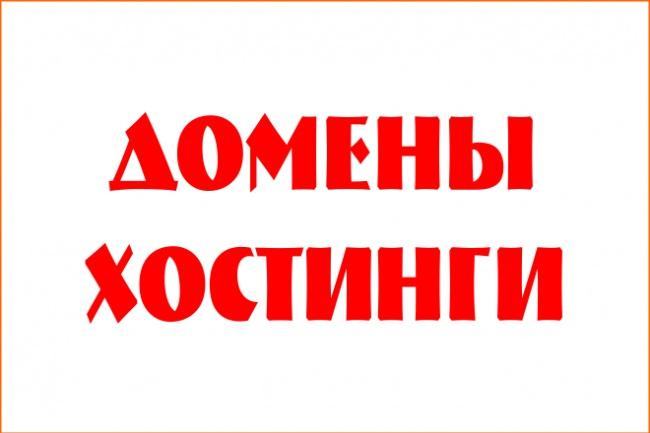Оформлю/покупку домена на самом быстром хостинге 1 - kwork.ru