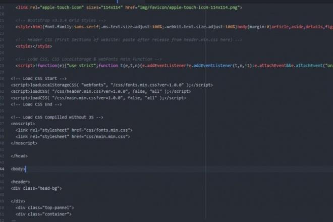 Вёрстка из psd в html css 1 - kwork.ru