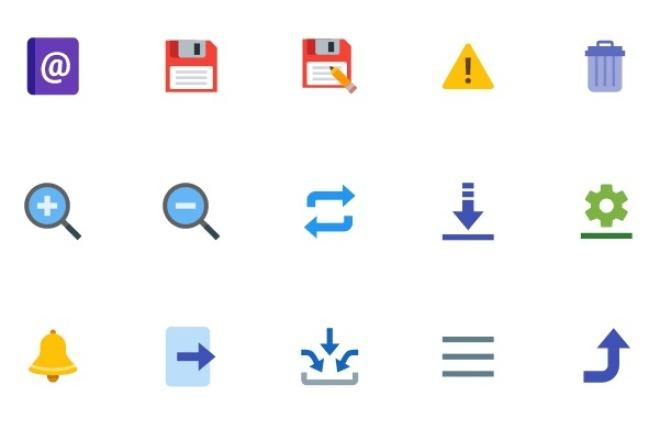 Подберу 15 иконок в едином стилеБаннеры и иконки<br>Подберу 15 современных иконок в желаемом Вами стиле (цветные, монохромные, плоские, круглые и т.д.), индивидуально для Вас изменю цвет иконок.<br>