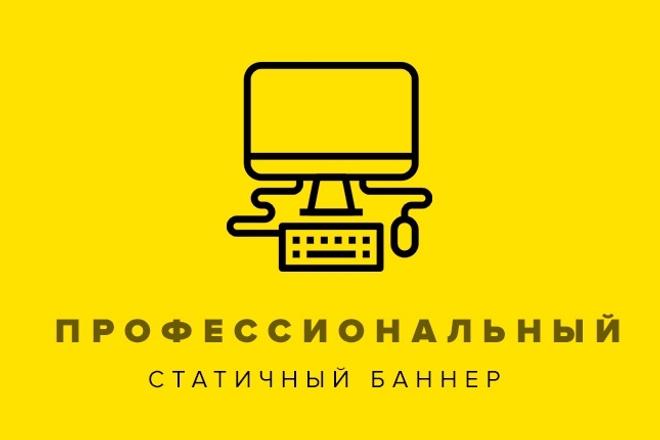 Баннер высокого качества. Цепляющий баннер. Быстро 1 - kwork.ru