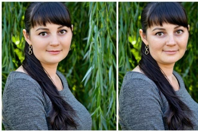 Профессиональная ретушь портрета, обработка/цветокоррекция, обтравка 1 - kwork.ru