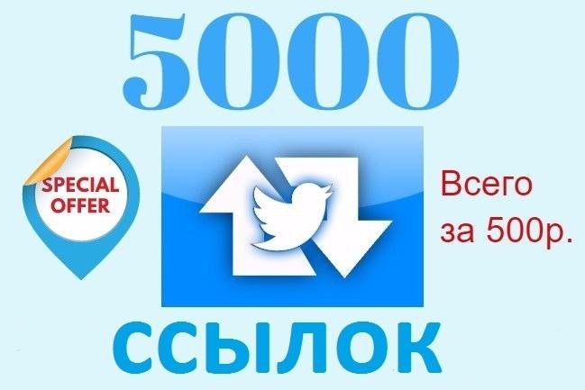 5000 ссылок в виде ретвитов в twitterПродвижение в социальных сетях<br>Привет. За этот кворк вы получите 5000 ретвитов с вашей ссылкой в твиттере. 1. Разместите твит со ссылкой в Вашем твиттере 2. Передайте нам ссылку на твит. 3. Мы сделаем 5000 ретвитов из 5000 разных аккаунтов Вы получите 5000 постов в Твиттере, где есть Ваша ссылка. 100% безопасно для вашего аккаунта. Гарантия возврата денег. Смотрите наши друге кворки внизу или пишите нам, если вас интересуют другие услуги , связанные с продвижением в социальных сетях. 10% от выручки идет на благотворительность.<br>