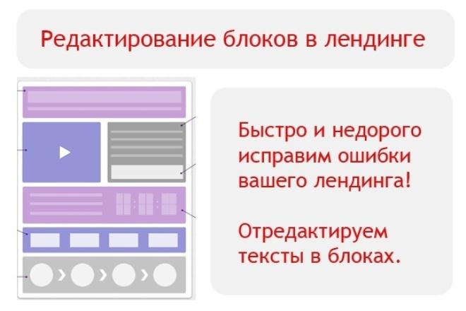Редактирование блоков в лендинге 1 - kwork.ru