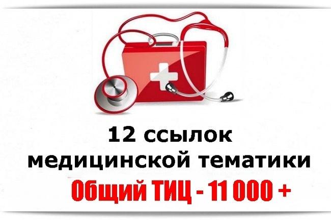 12 трастовых вечных ссылок с медицинских сайтов + бонусы 1 - kwork.ru