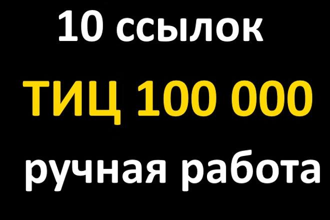 10 ссылок с ТИЦ 100 000. Ручная работа 1 - kwork.ru