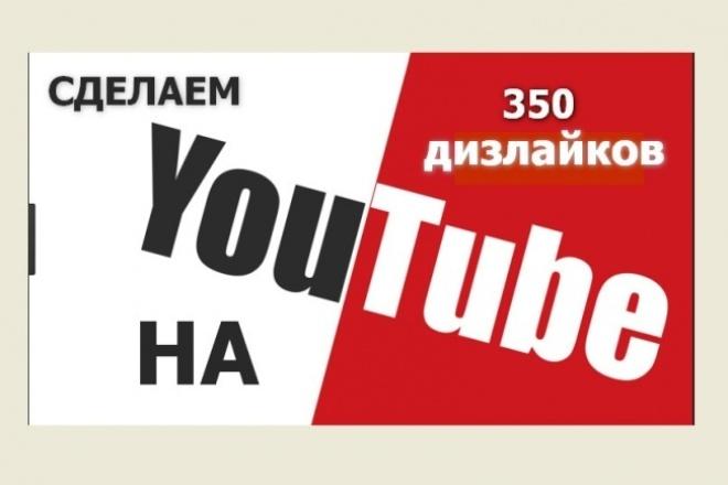 Добавим 350 дизлайков к видео на Youtube ЮтубПродвижение в социальных сетях<br>Сделаем 350 дизлайков к вашему видеоролику на youtube - От вас требуется только ссылка на видео<br>