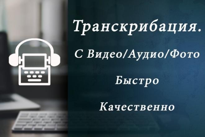 Транскрибация, аудио и видео в текстНабор текста<br>Расшифрую аудио/видео (телефонные разговоры, семинары, интервью и т.д. ) - Качественная расшифровка до 60 минут аудио или видео слово в слово на русском языке (до 4 говорящих) После выполненной работы, Вы можете обратиться ко мне, если будет необходимо внести какие-то изменения Важно Прошу Вас указать все необходимые требования по оформлению и количество лиц, участвующих в аудиозаписи. Пожалуйста, отправьте ссылку на аудио или видео, чтобы я смог оценить качество записи и темп речи. Готов подписать соглашение о неразглашении информации. Гарантирую грамотность и оперативность.<br>