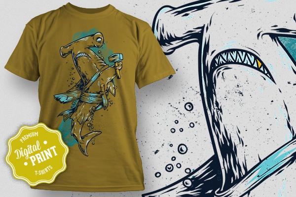 Супер принты на футболкиГрафический дизайн<br>Супер принты на футболки и не только. Для тех, кто желает выделиться из толпы своим стильным видом. Вы также можете сделать из себя человека Все в 1-ом стиле, использовав принт не только на футболке, но и на iPhone, сделав оригинальный чехол. Что входит в комплект: 4 принта из серии Морская жизнь морской черт, омар, акула, кальмар (JPG, PSD, tiff).<br>