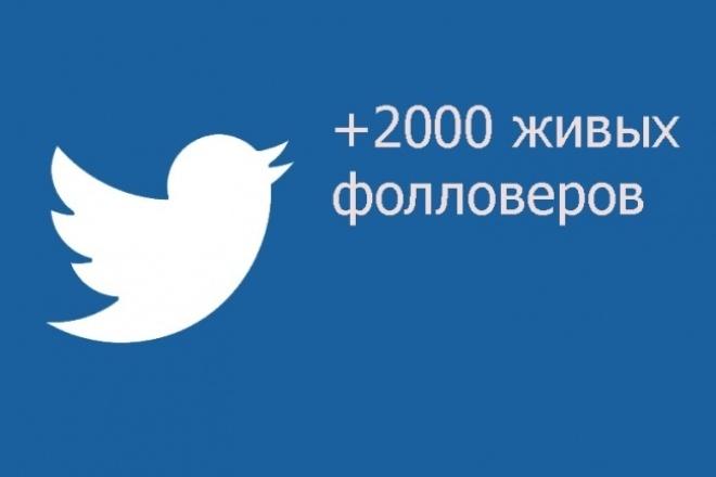 Живые фолловеры в twitterПродвижение в социальных сетях<br>Живые фоловеры в twitter. Все русскоязычные и с аватарками. Срок выполнения до 3-х суток. Процент отписки минимальный(до 3%) Часть из них активны.<br>
