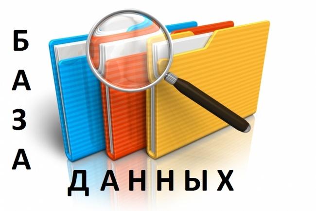 Соберу Базу Данных 1 - kwork.ru