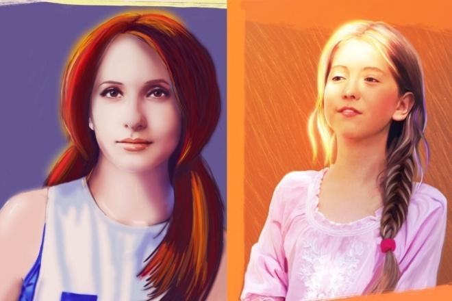 Нарисую стилизованный портрет по фото 1 - kwork.ru