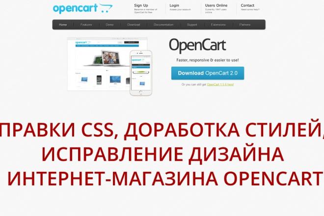 Исправлю ошибки в OpenCart (css, html и прочие) 1 - kwork.ru