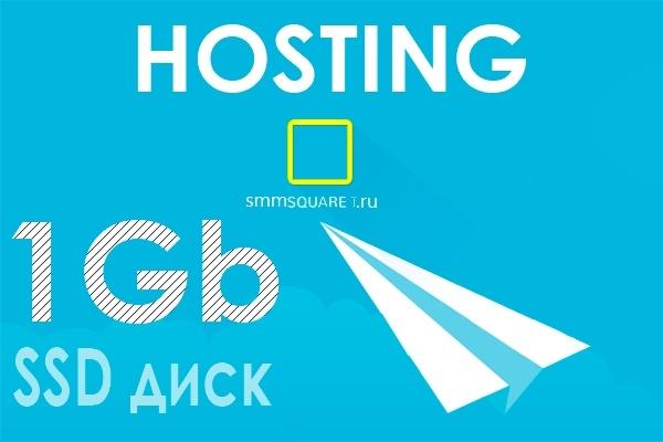 Хостинг 1Gb на SSD диске 1 - kwork.ru