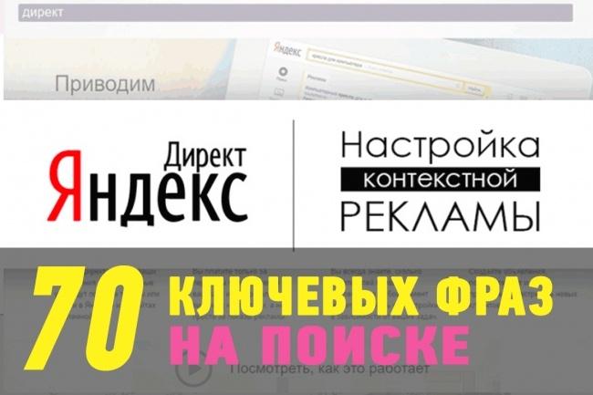 Настрою Яндекс Директ на поиске 1 - kwork.ru