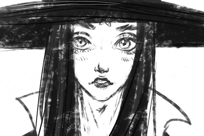 Нарисую ваш портрет в аниме стилеИллюстрации и рисунки<br>Нарисую черно-белый портрет по вашему фото в стиле аниме. Готовую работу вы получите в высоком разрешении и хорошем качестве.<br>