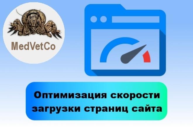 Оптимизация скорости загрузки страниц сайта 1 - kwork.ru