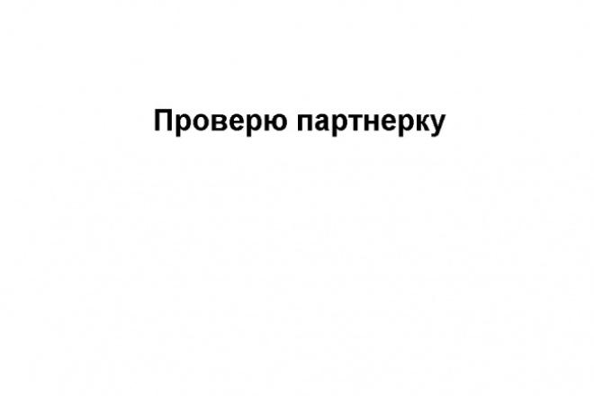 Проверка партнерской программы 1 - kwork.ru