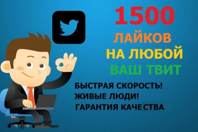 Сделаю 1500 лайков на ваш твит 1 - kwork.ru