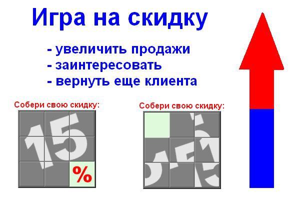 Собери скидку 15% (Игра Пятнашки) на сайт для увеличения продаж, лидов 1 - kwork.ru