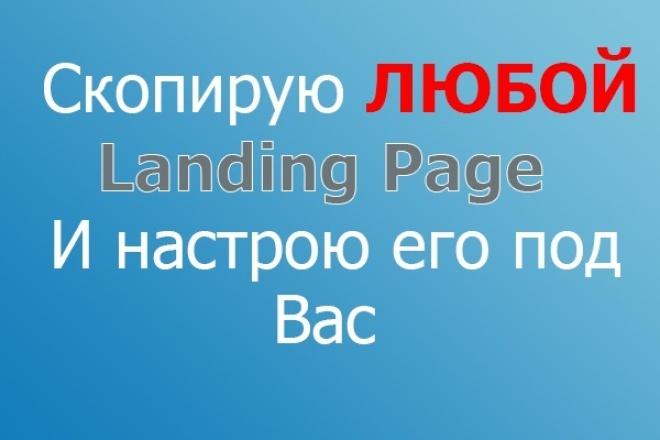 Скопирую любой landing и настрою его под вас 1 - kwork.ru