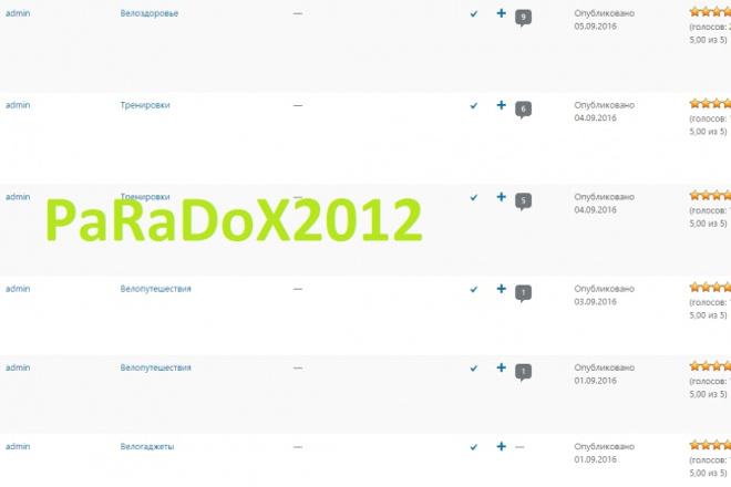 Сайт для велосипедистов + 200 новостейПродажа сайтов<br>Сайт использует CMS WP полностью готовый под развитие! Все сделано очень красиво, и аккуратно. на сайте больше 200 полноценных статей, как с фото так и без. Сайт подойдет даже новичку. Я являюсь разработчиком данного сайта. Все мои остальные Кворк доступны по ссылке: http://kwork.ru/user/paradox2012<br>
