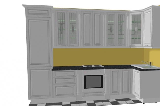 Дизайн-проект кухонного гарнитураМебель и дизайн интерьера<br>Создам дизайн-проект кухонного гарнитура для заказа в любой мебельной фабрике(в зависимости от производителя).Если вдруг размерный ряд не будет совпадать, то исправлю по размерам производителя. Все технические моменты будут соблюдены, дам рекомендации по цветам,материалам,расположению розеткам и т.д. Работаю сама в мебельном салоне с 2010г.Фабрики Новые кухни(если понадобится,то могу и просчитать примерную стоимость по ценам своей фабрики). Инструкция покупателю: Выслать размеры стен по которым будет располагаться кухонный гарнитур. С какой стороны располагается мойка,а с какой варочная и духовой(отдельно стоящая плита).Какая из техники будет присутствовать на кухне(варочная панель,духовой шкаф,вытяжка,холодильник,стиральная машина,посудомоечная машина,микроволновая печь) указать размеры техники(ширина в мм), указать встраиваемая она или нет(отдельностоящая).Материал из которого хотите кух.гарнитур(массив,эмаль,пленка,пластик).Высота верхних шкафов.Если есть,то можно выслать отрисовку кухни,стен с размерами.И ваши пожелания. Все это за один кворк.<br>