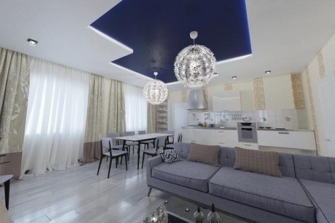 Дизайн-проект комнатыМебель и дизайн интерьера<br>Состав проекта. 1 - планировочное решение с расстановкой мебели (ищем эскизно, оформляем в чертеже) 2 - коллаж стилевого решения (в цвете, подобранные материалы, мебель, освещение) 3 - 3D-визуализация (до 6 ракурсов, 1600х1200 пикселей, 300 dpi, обработка в фотошопе) 4 - план потолка. привязка освещения. 5 - план укладки напольного покрытия, плинтуса, теплых полов... 6 - развертка стен. привязка розеток, выключателей. 7 - ведомость материалов, мебели, осветит.приборов с указанием ссылок, колеров, кол-ва...<br>